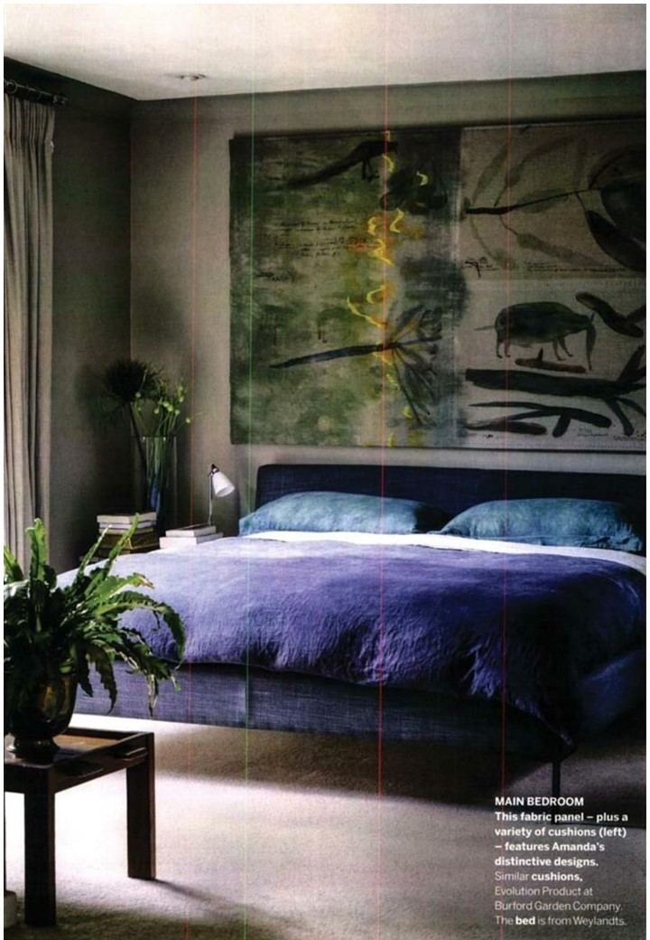 A gorgeous South African bedroom in Homes & Gardens featuring Original BTC's classic bone china Hector