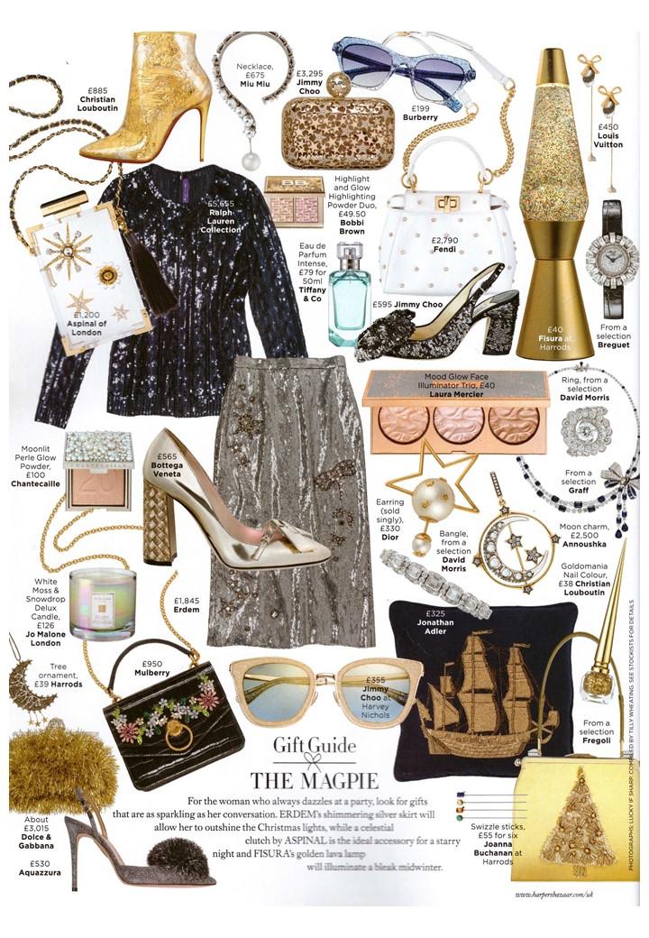 All that glitters - Jonathan Adler's ship shape sequin cushion in Harper's Bazaar