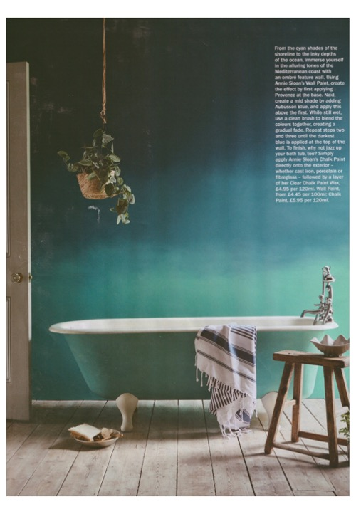 Annie Sloan Aubusson Blue and Provence Chalk Paint mixing it up in Period Living