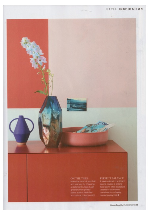 Annie Sloan's Antoinette Chalk Paint is in the pink in August's House Beautiful