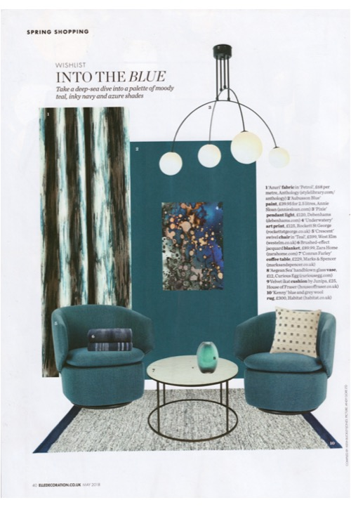 Annie Sloan's Aubusson Chalk Paint takes a deep sea dive in May Elle Deco