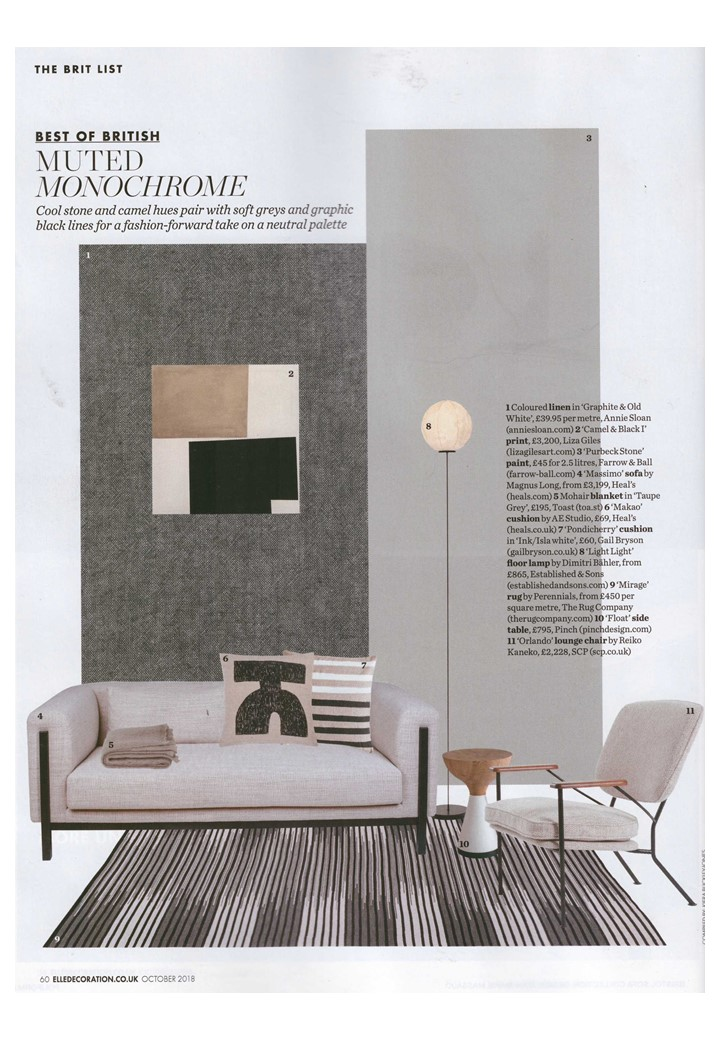 Annie Sloan's new Linen Union in Elle Deco's fashion-forward take on neutrals