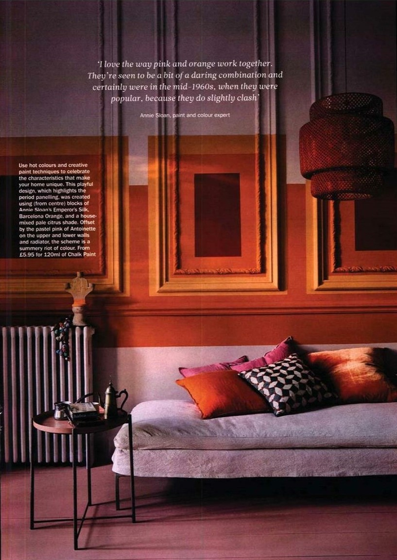 Another full page for Annie Sloan - juicy Living Coral in Period Living