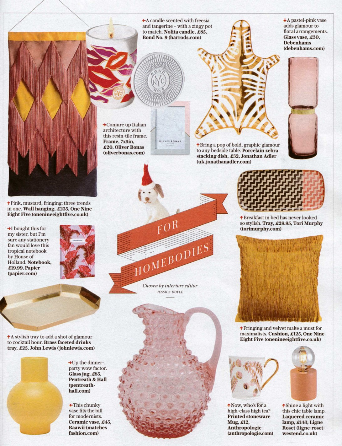 COVERAGE Stella nominates Jonathan Adler, Ligne Roset and Tori Murphy as the go-to gift destinations for homebodies
