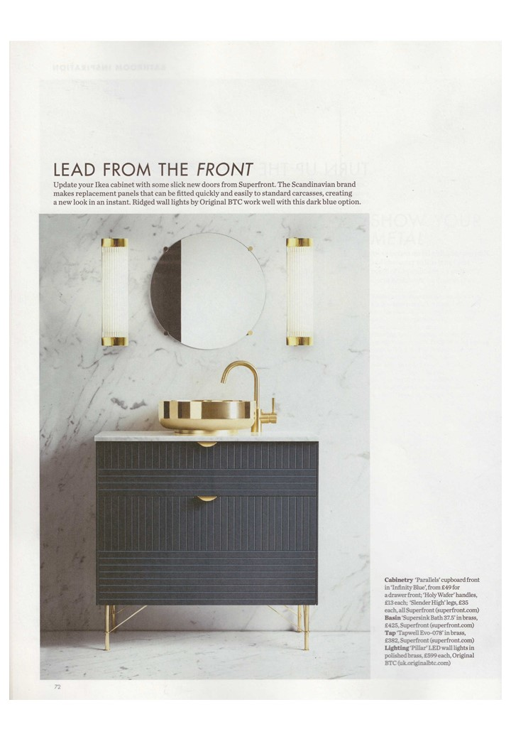 Davey Lighting goes full page in October Elle Deco