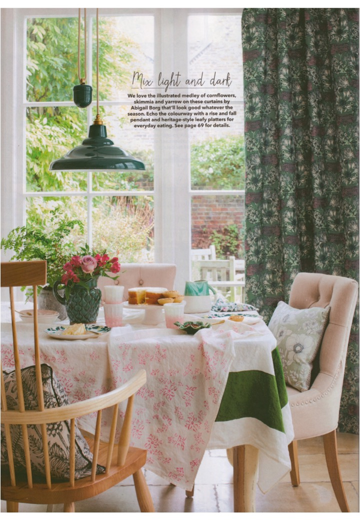 Davey's industrial aesthetic gets a touch of pretty in Country Homes & Interiors, March