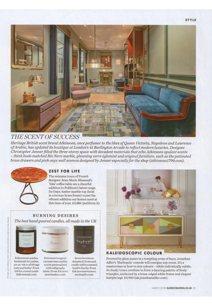 Elle Decoration loves Jonathan Adler's Harlequin credenza as much as we do