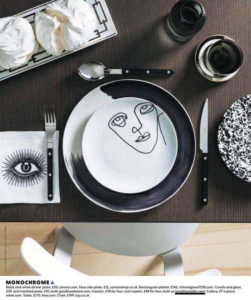 Eye eye - Jonathan Adler's linen napkins set the scene in You Magazine's table settings shoot