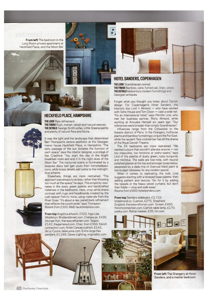 Get the Heckfield Place look with a Davey pendant light, says Sunday Times Style
