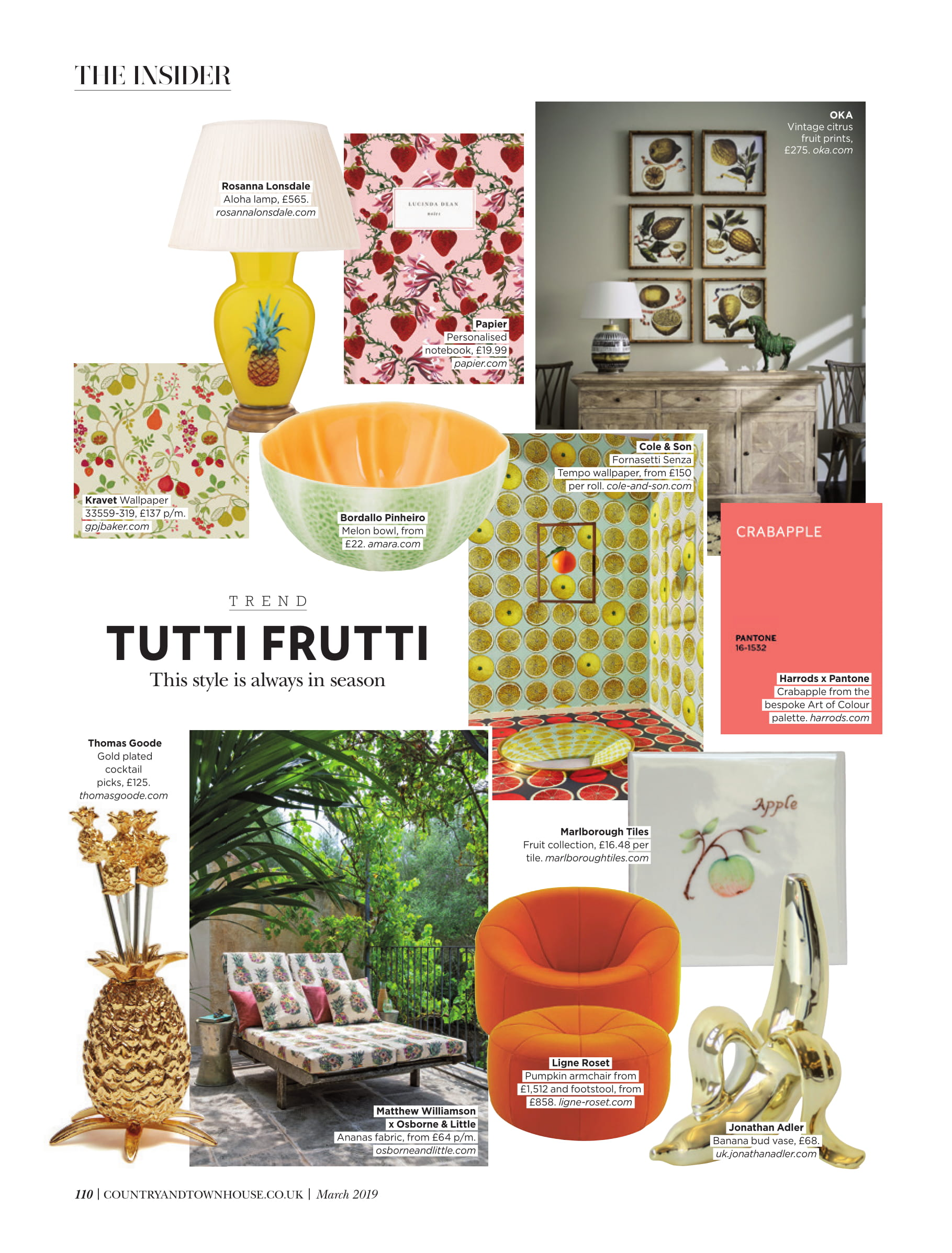 Ligne Roset and Jonathan Adler looking juicy in Country & Town House