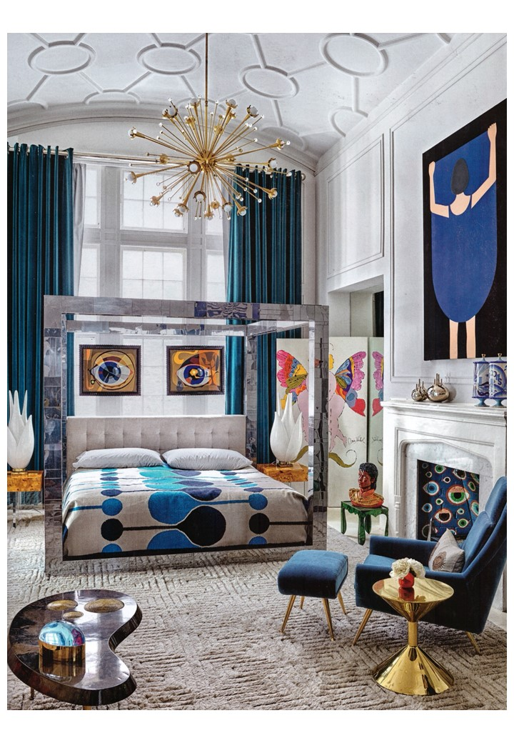 More, more more - Jonathan Adler's boudoir in Elle Deco, July