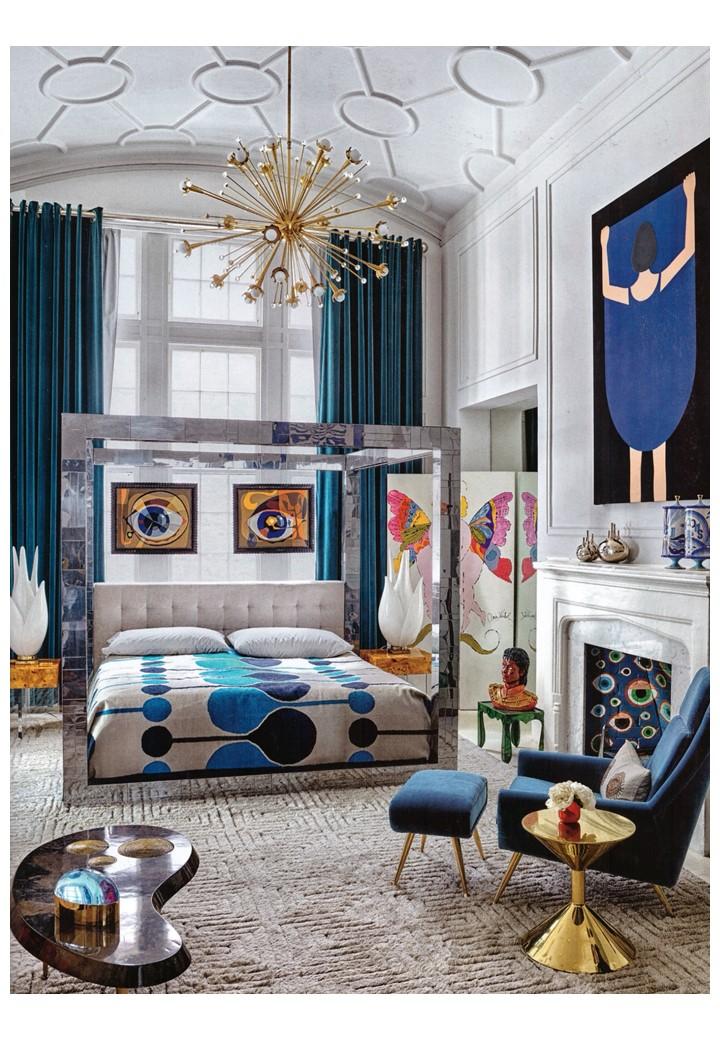 More, more more - Jonathan Adler's boudoir in Elle Deco, July