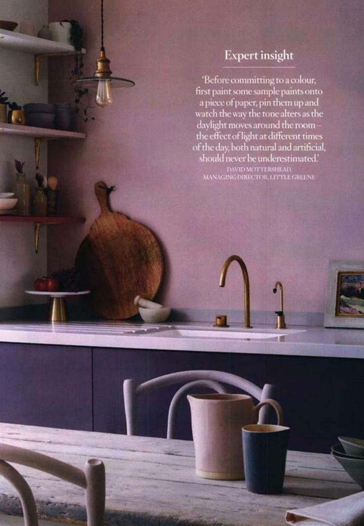 Our beautiful Annie Sloan kitchen lifestyle went full page in Feb's House Beautiful