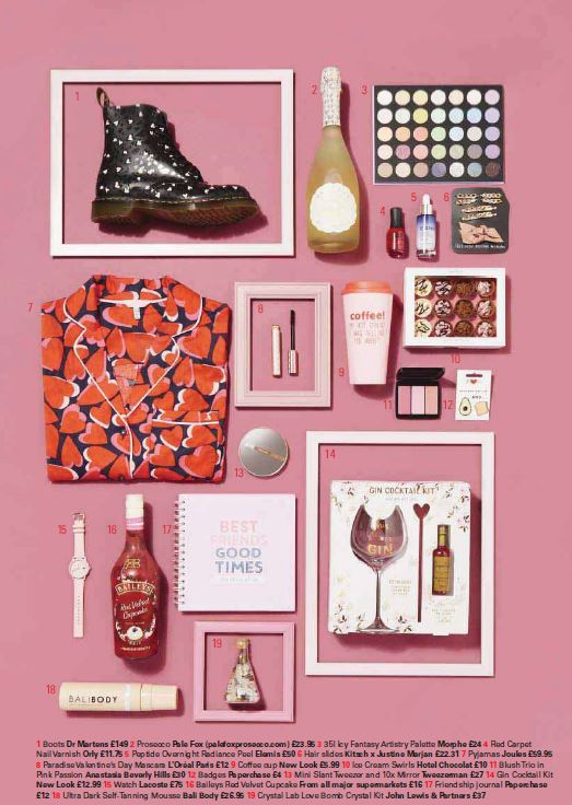 Pink is the colour of love in New!'s Valentines gift guide,complete with a background of Annie Sloan's Henrietta Chalk Paint