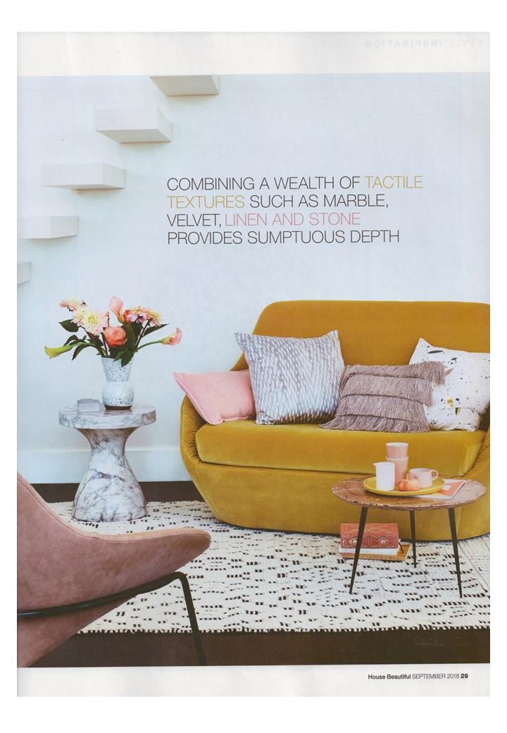 Rock Me Amedee... Ligne Roset's sofa packs a yellow velvet punch in House Beautiful