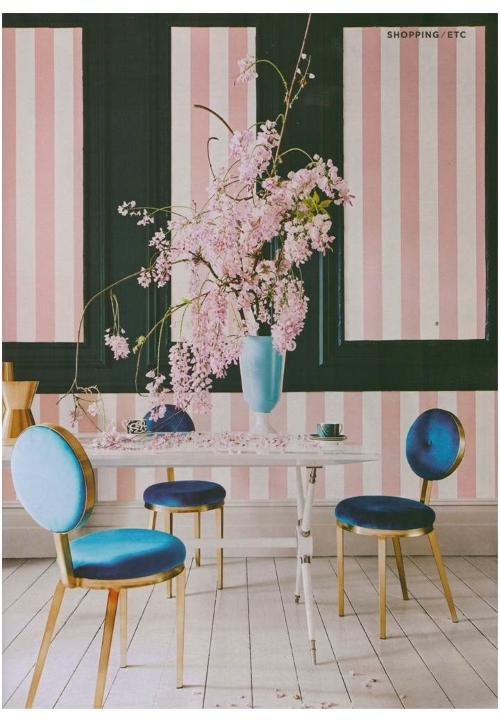 Roll out the red carpet for Jonathan Adler's Caracas table in Living etc's Hollywood Regency extravaganza (Aug issue)