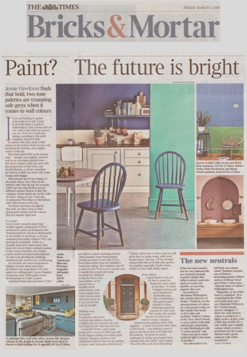 Say goodbye to grey. It's time to go bold, says Annie Sloan in The Times
