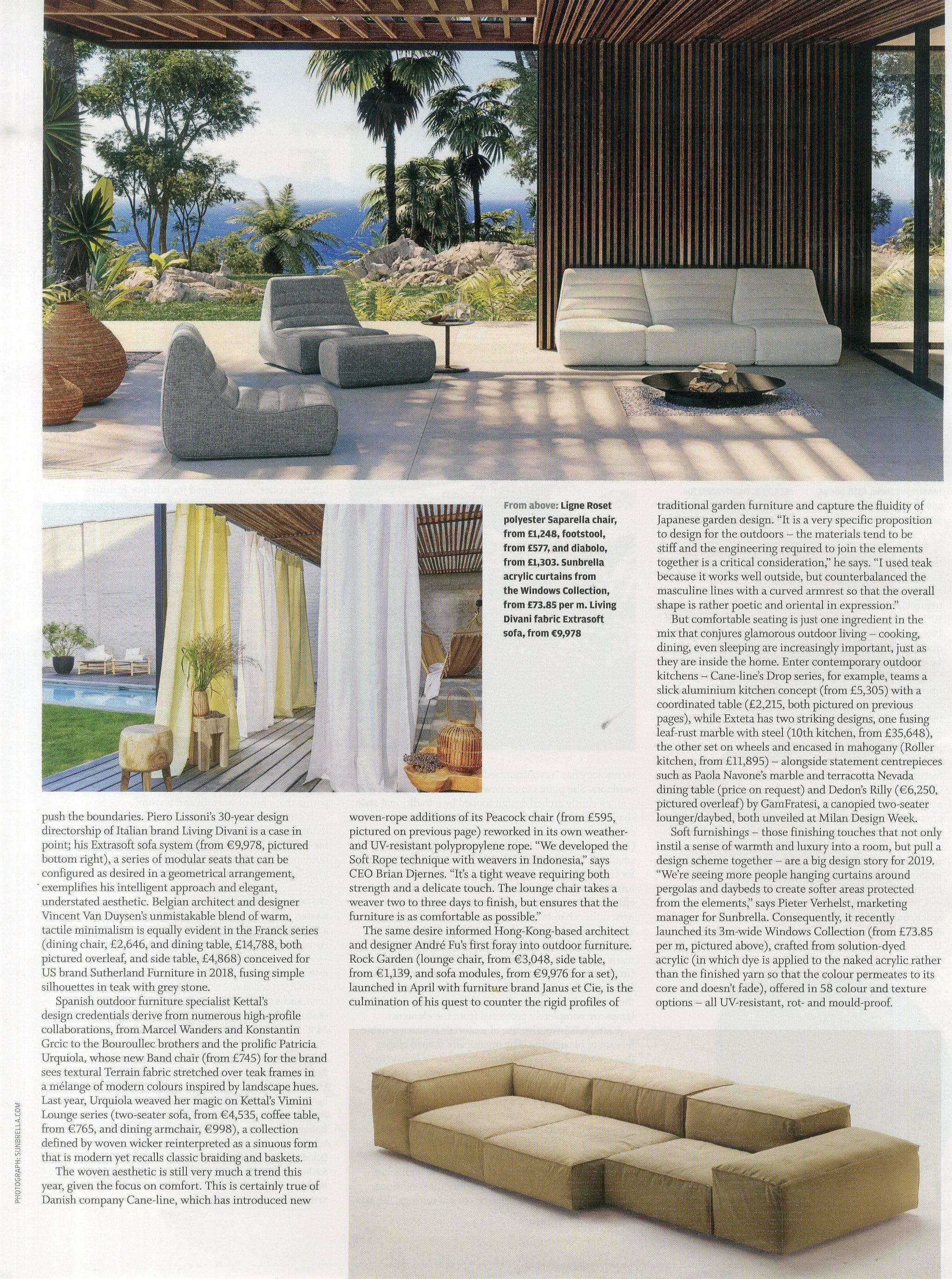 Take it outside with Ligne Roset's reissued 1960s classic Saparella in FT How to Spend It