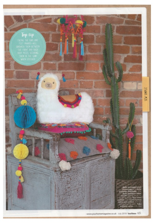 Talking Tables Boho decs brightened our day in Your Home July