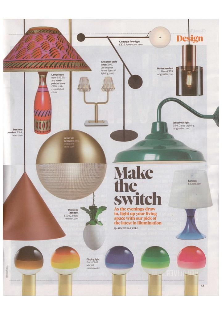 The Observer Magazine makes the switch to Davey Lighting, Ligne Roset and Original BTC