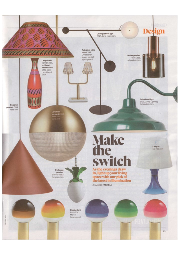 The Observer Magazine makes the switch to Davey Lighting, Ligne Roset and Original BTC