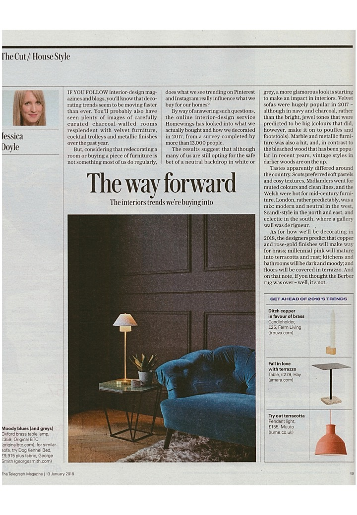 The Telegraph Magazine thinks Original BTC's Oxford table light is worth buying into