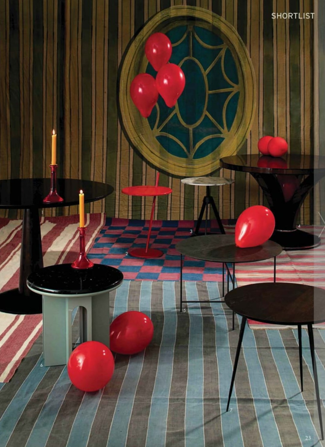 The World of Interiors goes full circle with Ligne Roset's ruby Good Evening table