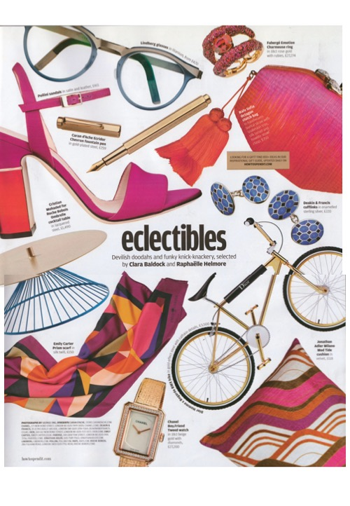 Tickled pink by Jonathan Adler's Milano cushions in FT How To Spend It