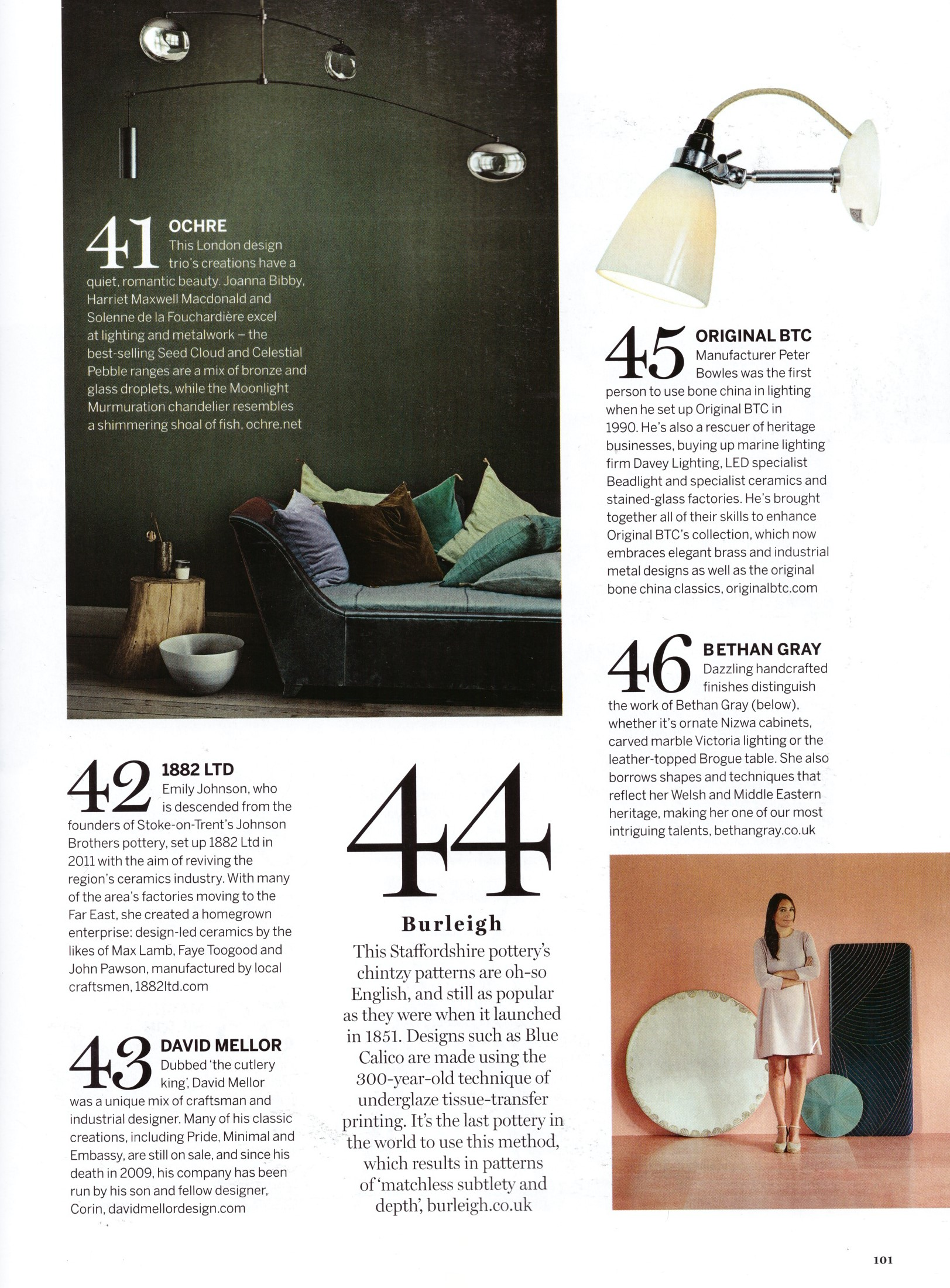 We're thrilled Original BTC made Homes & Gardens' centenary issue hotlist of design movers and shakers