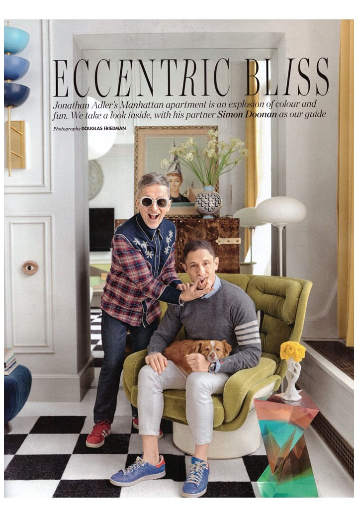 Yasssssss! At home with Jonathan Adler and Simon Doonan in Elle Deco, July