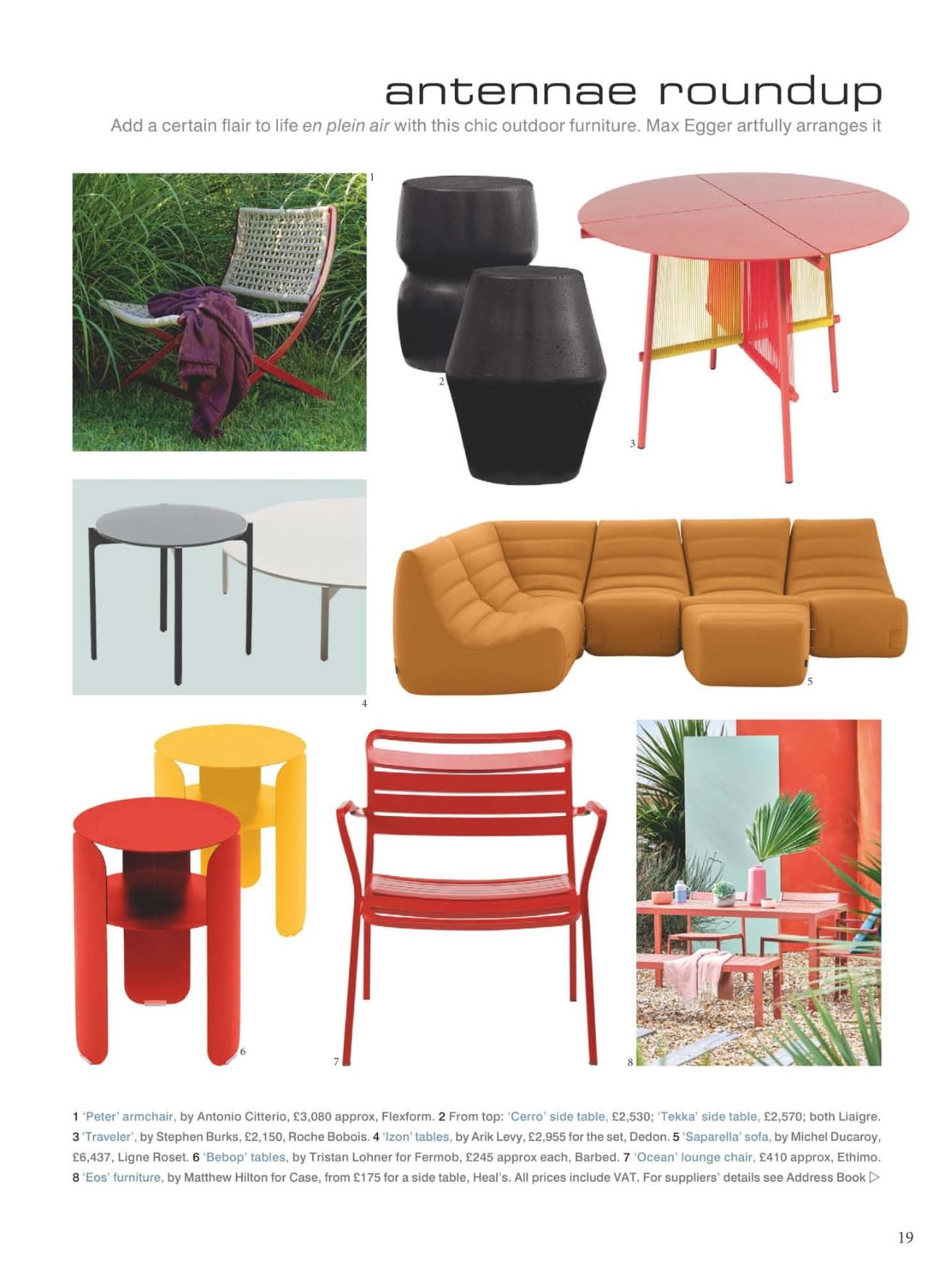 Add flair to life in plein air with Ligne Roset's sumptious Saparella, says World of Interiors