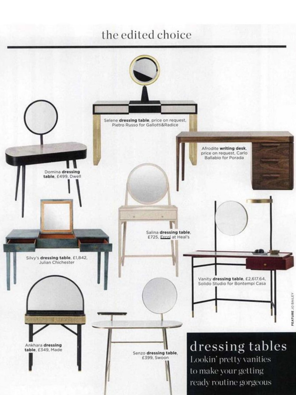 Beautify your getting ready routine with ercol's Salina dressing table, says Living Etc
