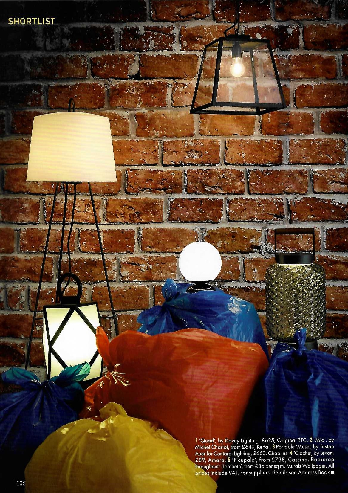 Davey Lighting's Exterior Quad pendant is the way to glow, starring in The World of Interiors's outdoor lighting edit