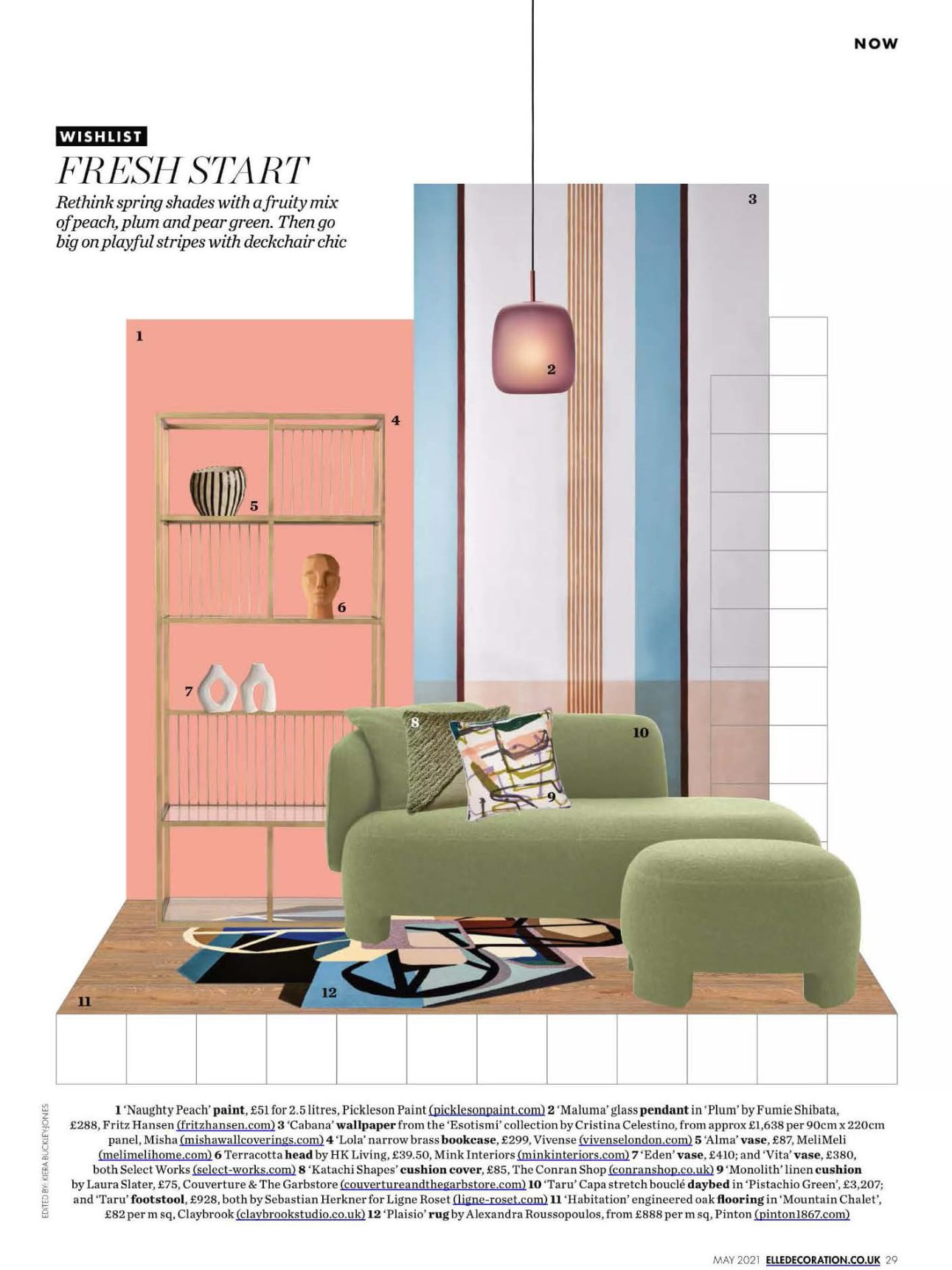 Get a fresh start with Ligne Roset's Taru daybed in pistachio green, says Elle Decoration