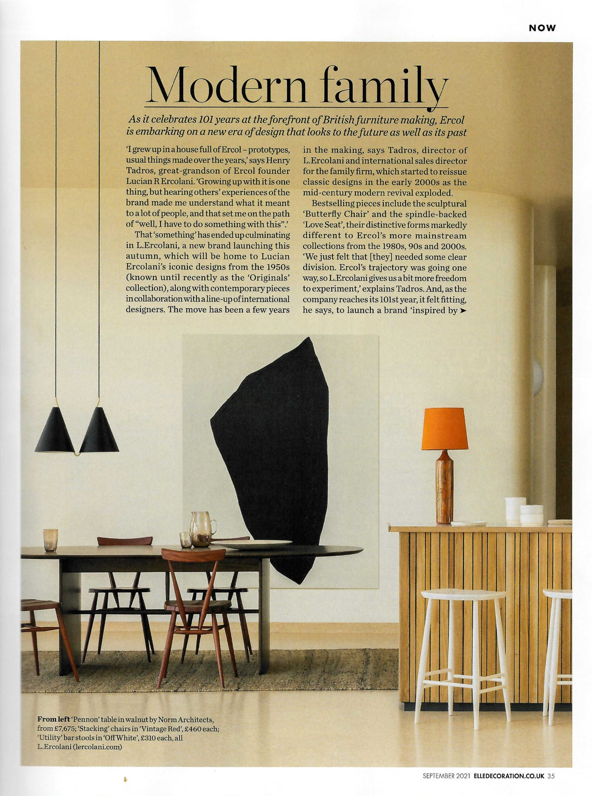 Introducing L.Ercolani, the new refined luxury brand from the ercol group. Read all about it in Elle Decoration.