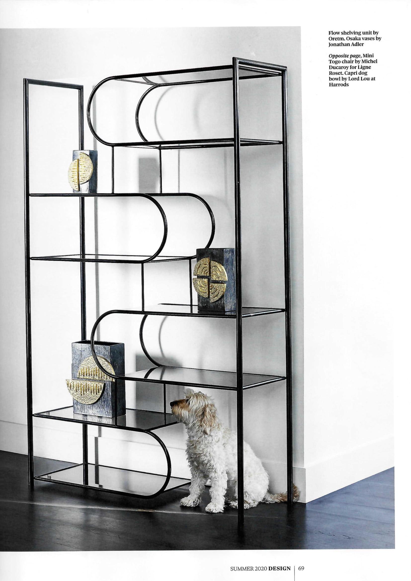 It's a (double) dog's life in The Observer's Design supplement, with Jonathan Adler's Brutalist-inspired Osaka vases...