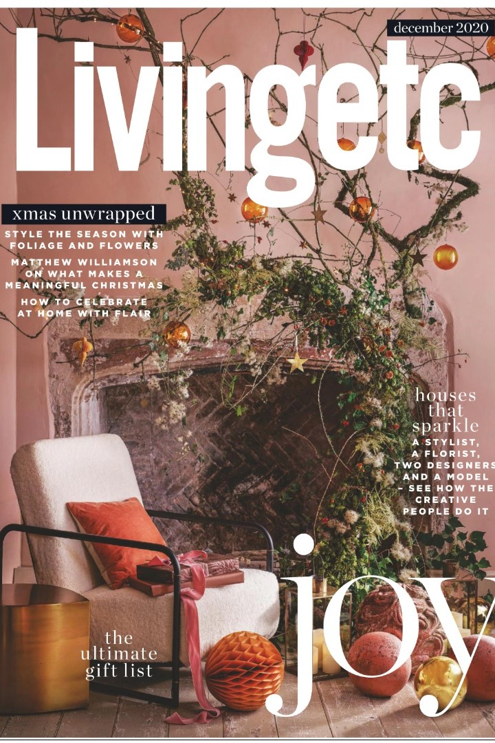 Jonathan Adler takes pride of place on the cover of Living Etc