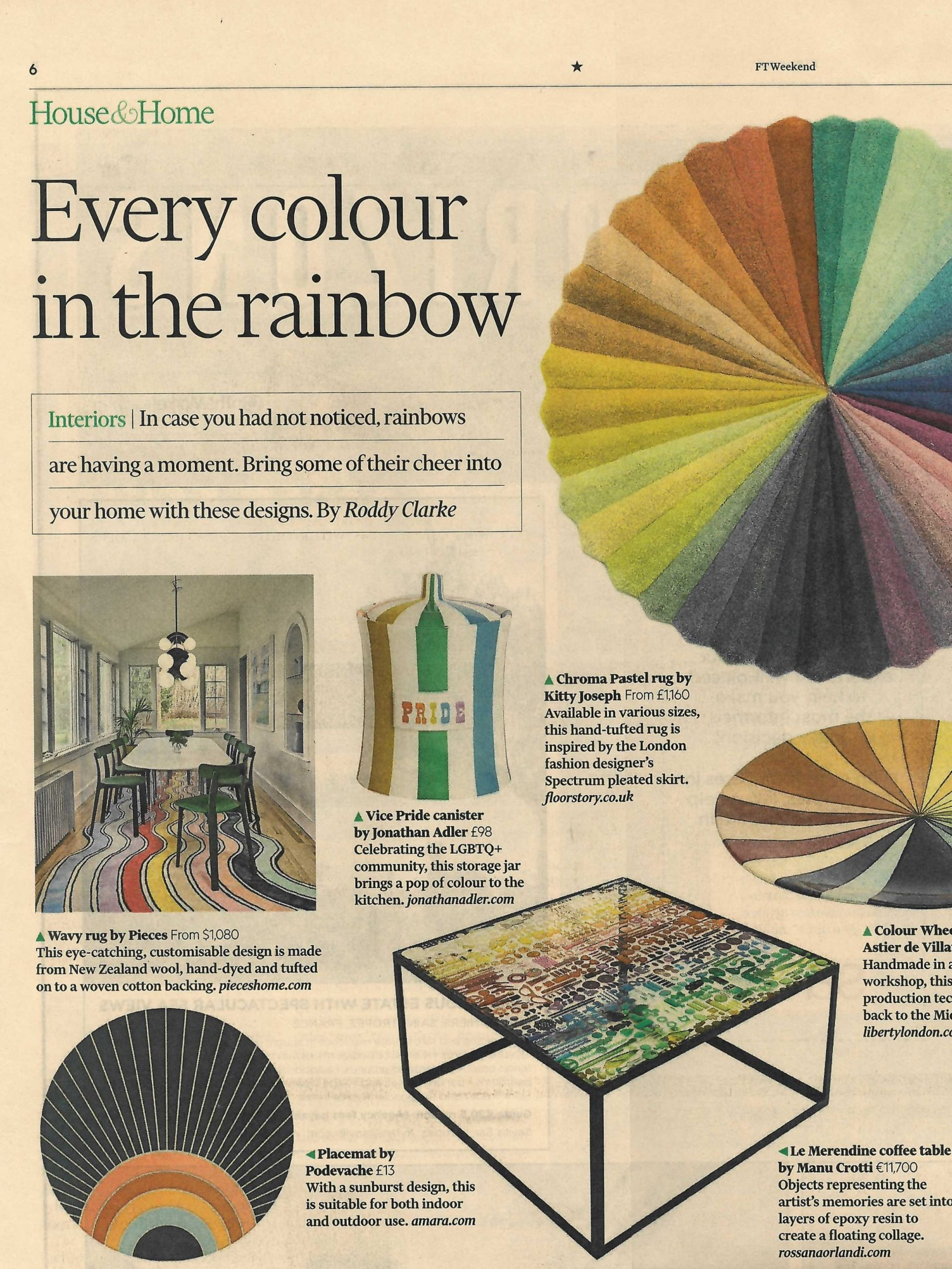 Jonathan Adler's Pride canister brings cheer with every colour in the rainbow, says FT Weekend