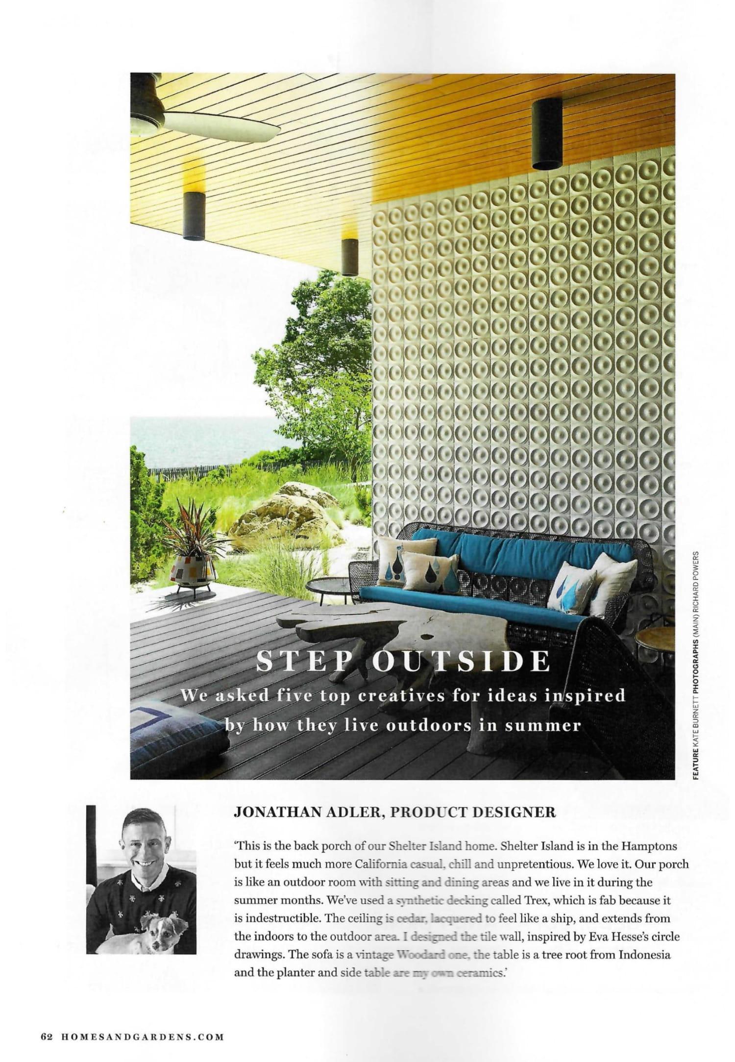 Jonathan Adler's Shelter Island home is the definition of California Casual in this month's Homes & Gardens