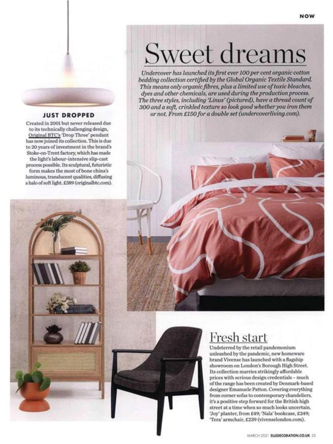 Just dropped! Original BTC's new Drop Three pendant is headline news in Elle Decoration