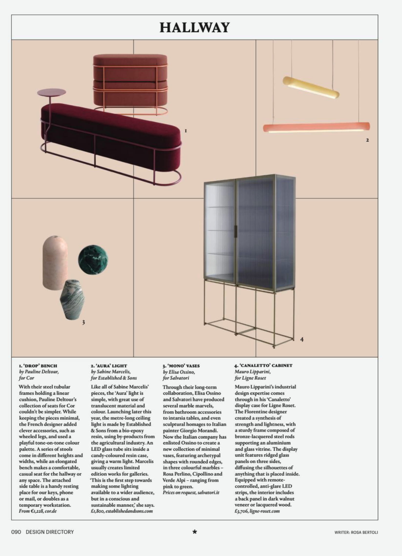 Ligne Roset's Canaletto cabinet on display in Wallpaper, June