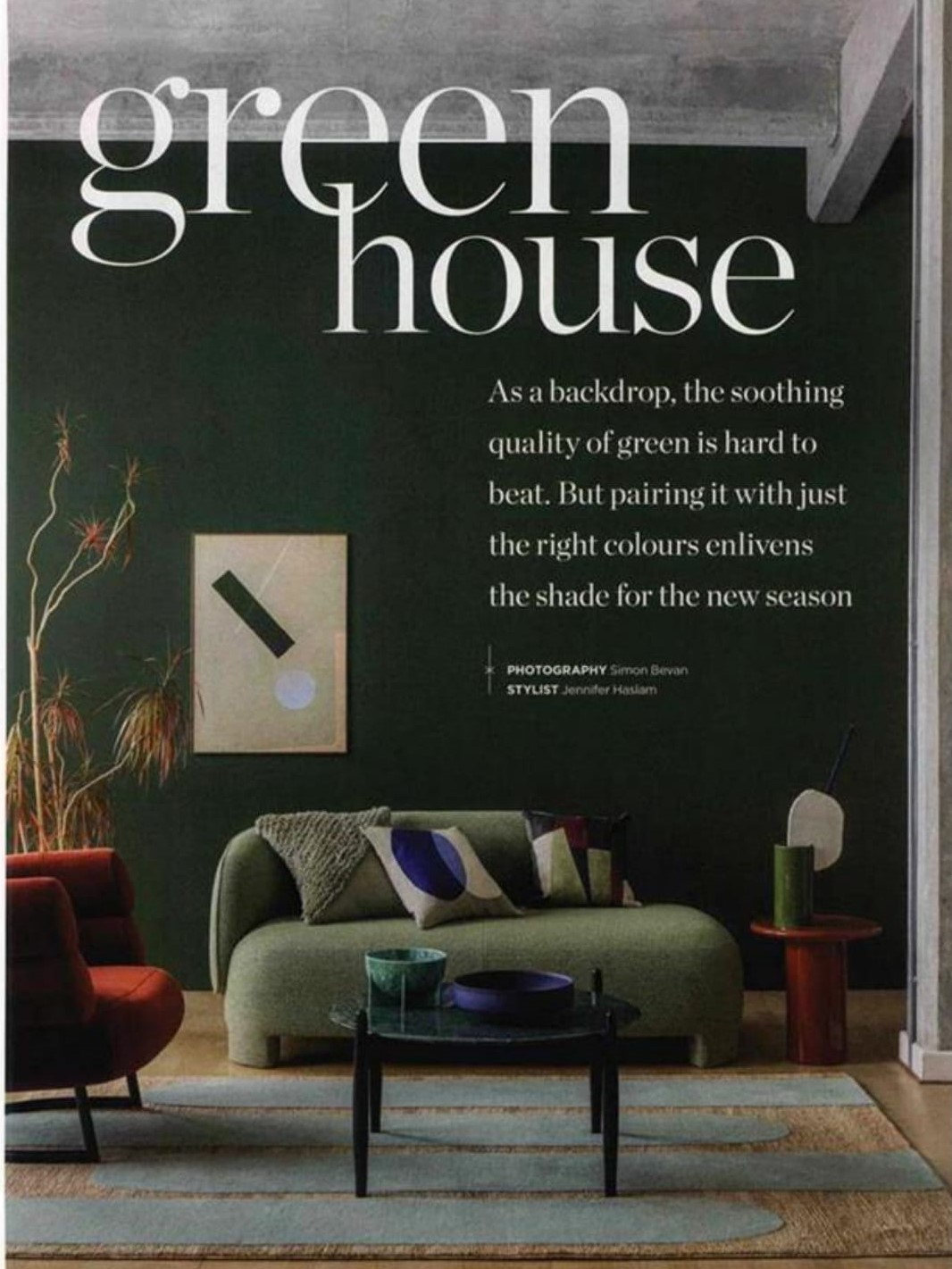 Living Etc are going for the shade of the season with Ligne Roset's Taru sofa in forest green
