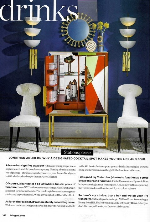 Living Etc quizzes Jonathan Adler on how a home bar can make you the toast of the party