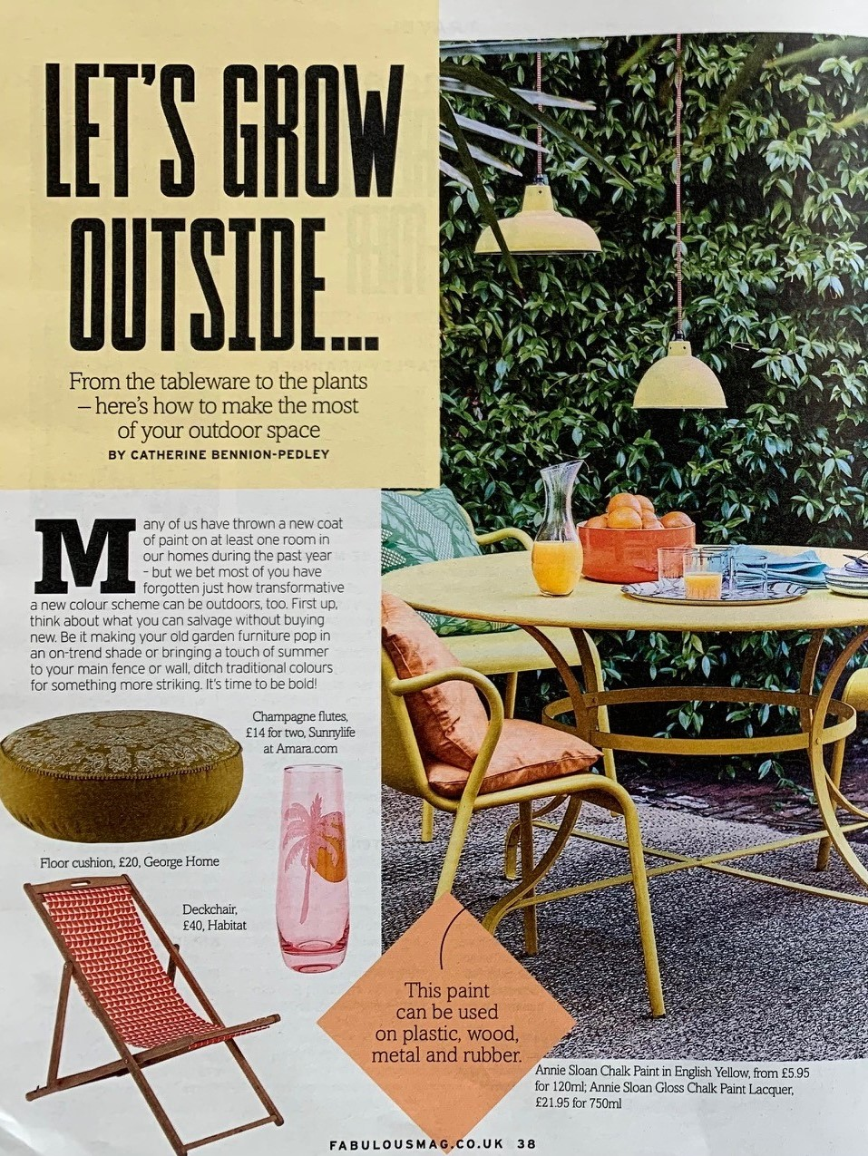 Make old garden furniture pop with a coat of Annie Sloan's Chalk Paint, says Fabulous