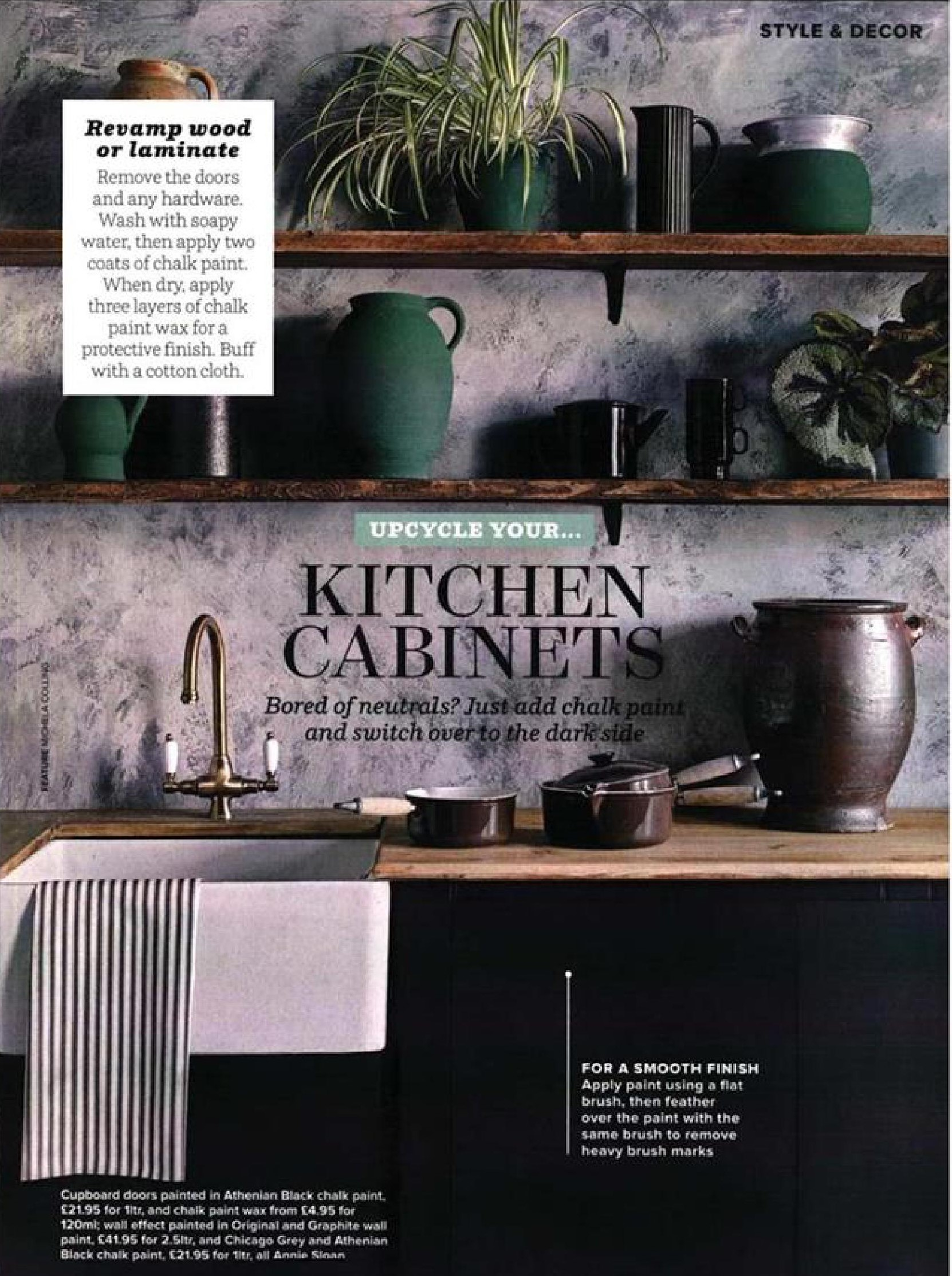 Switch over to the dark side with Annie Sloan's Athenian Black and Graphite Chalk Paint in Ideal Home's upcycle feature