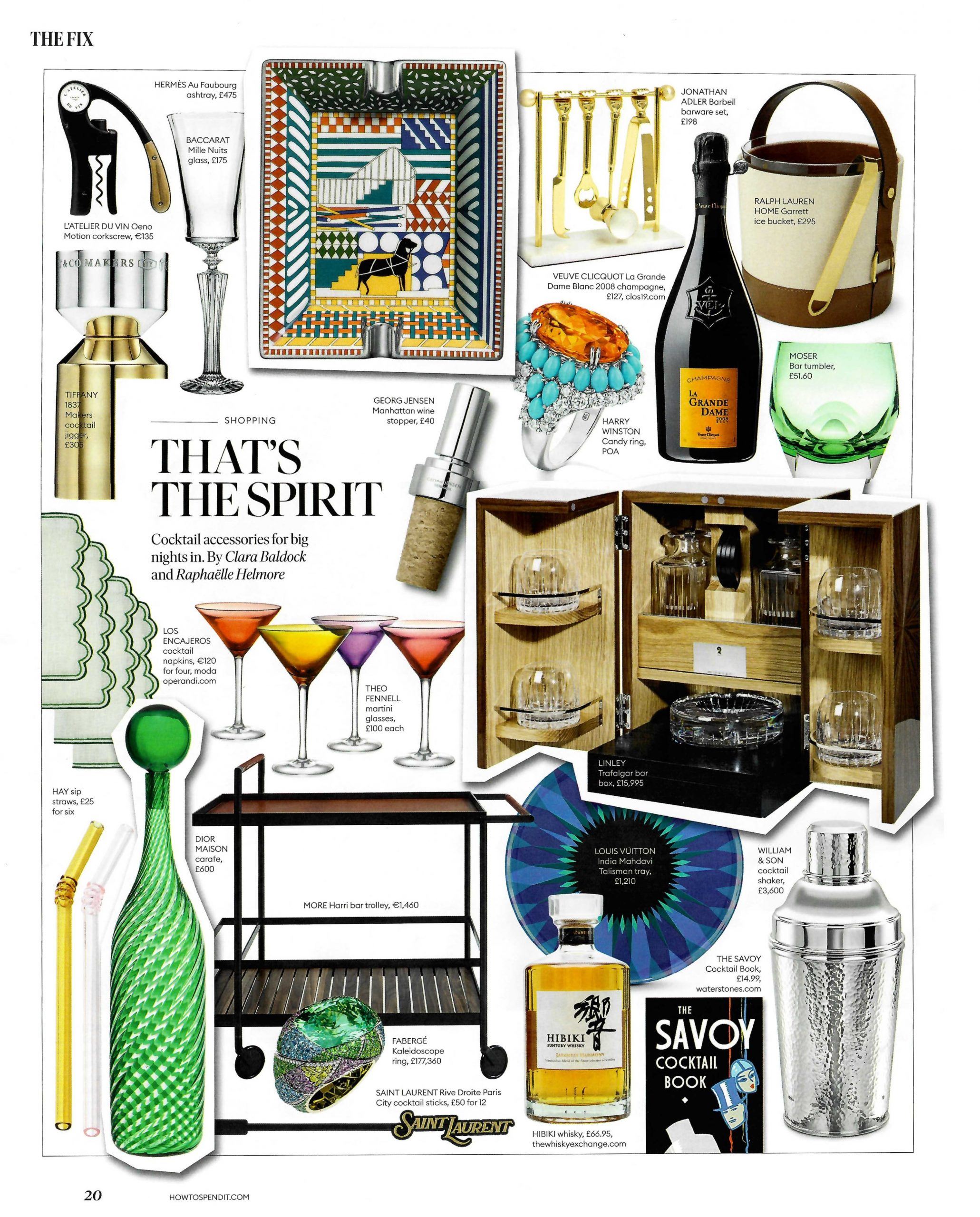 That's the spirit - Jonathan Adler's Barbell barware set in FT How to Spend It